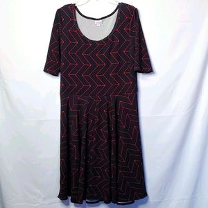 LuLaRoe scoop neck short sleeve dress sz 3XL